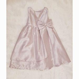 Gymboree Silver Bow Dress